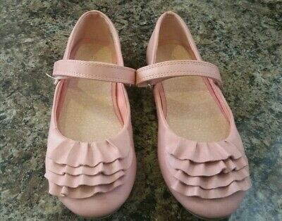 Girls Next Pink Mary Jane party Shoes Size UK 12 Ruffle Frills - Worn Once!