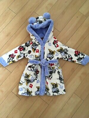 girls disney minnie mouse dressing gown 18-24 months