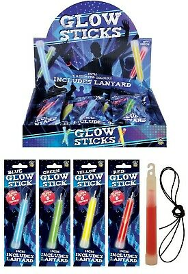 Henbrandt Party Time Glow stick with Hook and Lanyard - 15cm - Necklace Bracelet