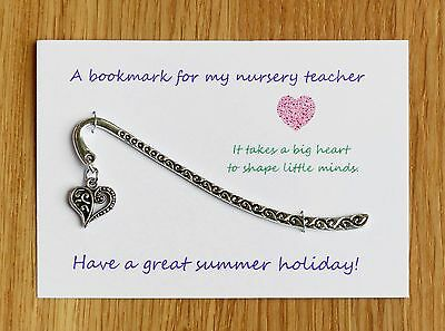Nursery teacher,Teacher gift, Teaching Assistant  Bookmark Can be personalised A