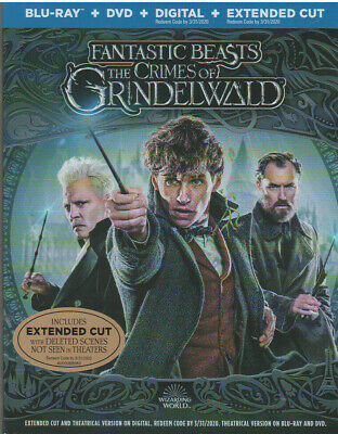 FANTASTIC BEASTS CRIMES OF GRINDELWALD (Blu-ray, DVD, 2019) NEW WITH SLEEVE