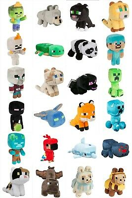 "Minecraft Happy Explorer 6"" Plush:Cat Llama Ocelot Wolf Parrot Dolphin Turtle"