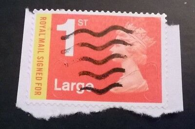 1 Used Gb Royal Mail Signed For M16L Large Sg U3050 Security 2016 Machin Stamp