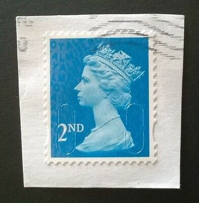 1 x GB MACHIN USED BLUE 2ND CLASS 2015 SECURITY STAMP - M15L MAIL CODE SG U2995