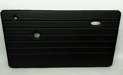 Classic Mini Door Cards / Panels In Black Vinyl Choice Of Stitching Colours