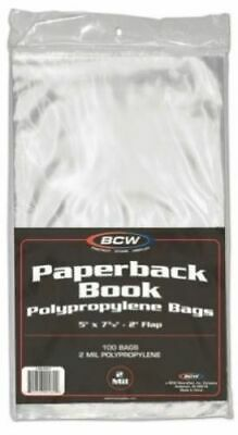 RESEALABLE HARDCOVER Size 200ct Book Bags 2 packs BCW 2-mil Poly FREE SHIP
