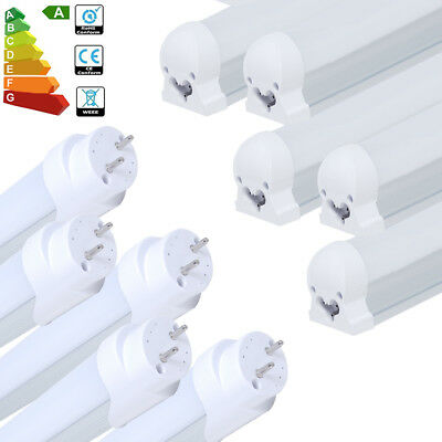 8X 12X T8 LED Tube Fluorescent Light Bar 3FT 4FT 9W 18W 24W Home Office 220V A++