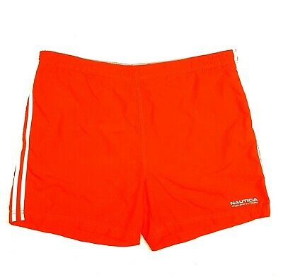 2be1acb72c1c7 NAUTICA COMPETITION Mens XL Orange Board Shorts Trunks Swim Spell Out  Sailing