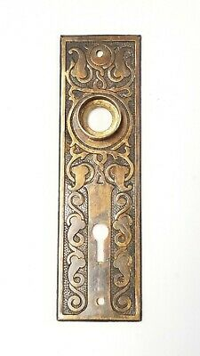 B14 Antique Ornate Cast Iron Eastlake Back Plate Door Hardware