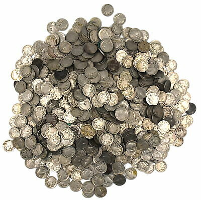 Dated Buffalo Nickle Indian Head Collectible Us Coins Lot Of 1000 Multiple Dates