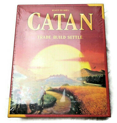 Brand New Sealed CATAN 3-4 Player Board Game - 5th Edition Trade Build Settle