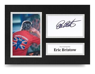 Eric Bristow Signed A4 Photo Display PDC Darts Autograph Memorabilia + COA