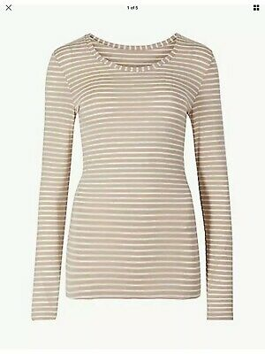 M /& S Black Lace Body Long Sleeves Size 12 BNWT