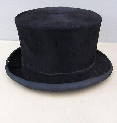A Vintage Top Hat by Lincoln Bennett & Co Piccadilly London including Hat Brush.