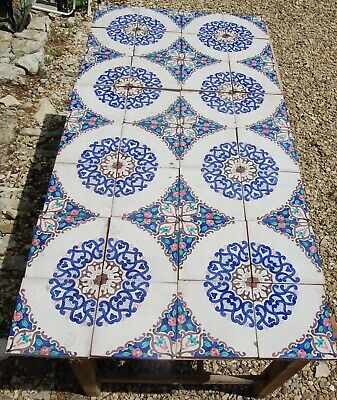 Fine Collection of Majolica Tiles C19th , Traditional Design - Sets of 4