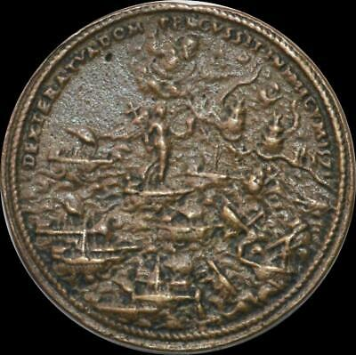 Italy, Pius V - 1571 the Battle of Lepanto AE cast medallion