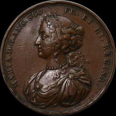 England - William and Mary 1689 coronation medallion by Hautsch