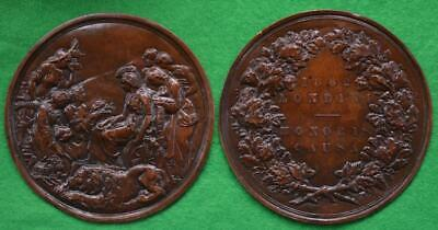 Queen Victoria - 1862 International Exhibition medal by Wyon