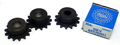 Martin 35B14 Steel Sprocket, 35 / 3/8, Bore 0.5In, Single Pitch, Lot Of 4, Nos!