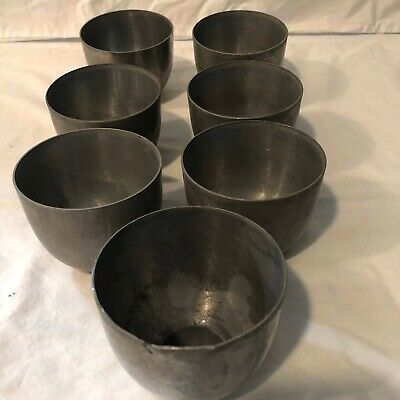 KIRK STIEFF Set of 7 Monticello, Thomas Jefferson Solid Pewter Julep Cups