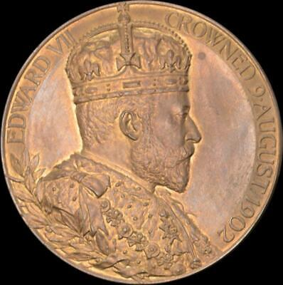 England, Edward VII - 1902 Bronze Official coronation medal cased UNC