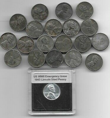 Rare Old WWII US Coin Collection 1943 Emergency Steel Lincoln Penny War Big Lot