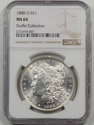 1888-O Morgan Dollar Ngc Ms-64 Stuffel Collection