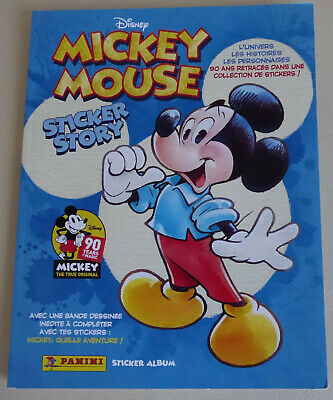 !!! NEUF - ALBUM collection PANINI - MICKEY MOUSE 90 ans - DISNEY - complet !!!
