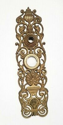 "RARE ANTIQUE ORIGINAL LARGE BRONZE 1800's BACK PLATE RHCo 13"" x 3 5/8"""