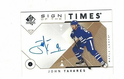 John Tavares Ud Sp Authentic 2018-19 Auto Sign Of The Times