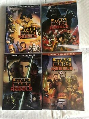Star Wars Rebels Season 1 - 4 DVD Complete Animated TV Series 1,2,3,4 Seal + New