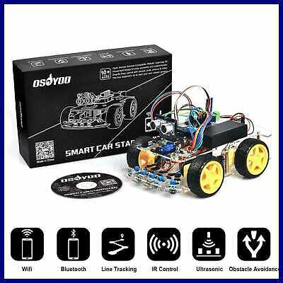 Robot Smart Car For Arduino DIY Learning Kit W Tutorial Android/ Ios APP Wifi Bl