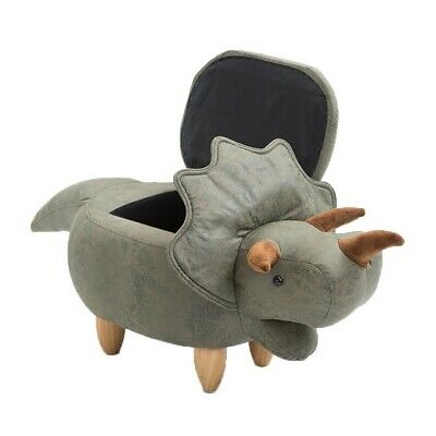 Hodson Dinosaur Animal Storage Kids Leather Ottoman Hassock Stool Decor