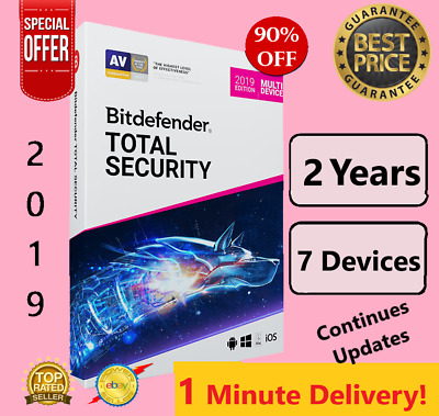 Bitdefender Total Security 2019 /2020 |7 Device - 2 Years-Download-FAST DELIVERY