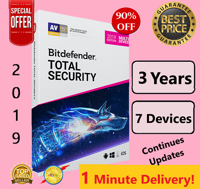 Bitdefender Total Security 2019 | 7 Device - 3 Years | Download | FAST DELIVERY