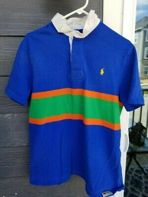 03a745ec4f2 Rare Vintage Polo Ralph Lauren Rugby Polo T-Shirt Size Large Single Stitch