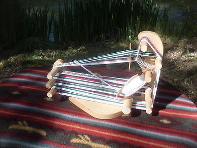WEAVING FRAME LOOM With Instructional Book And Wool - $29 00