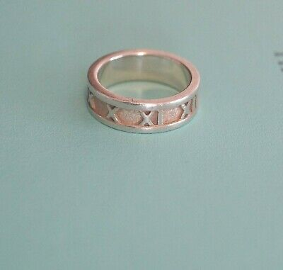ebb296a17 Authentic Tiffany & Co Sterling Silver Narrow Band Numeral Atlas Ring Size 5