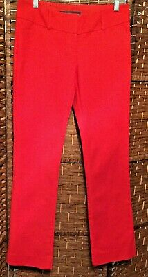 Women's The Limited Red Pants Size 4