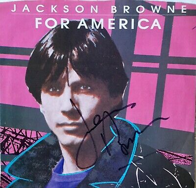 Jackson Browne signed Promo 45 Picture Sleeve w/ Record