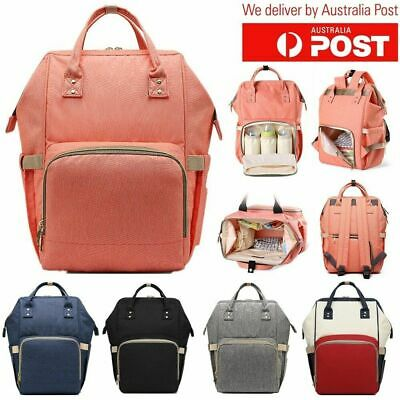 Large Capacity Mummy Bag Baby Diaper Nappy Maternity Changing Travel Backpack AU