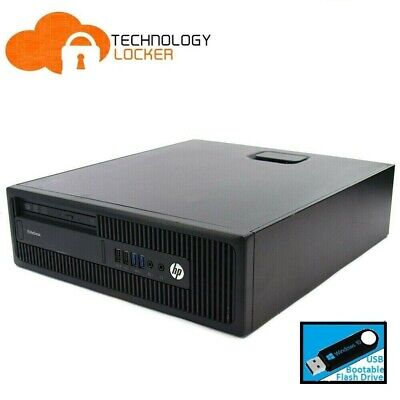 HP EliteDesk 800 G1 SFF Desktop PC Intel i5-4590 @3.30Ghz 8GB RAM 500GB HDD Win