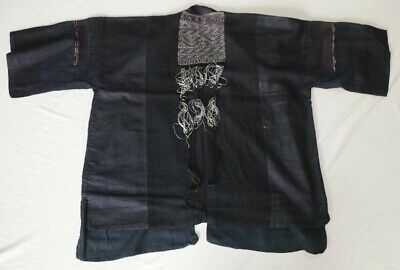 vintage tribal exotic chinese miao people's hand tin-embroidery costume jacket