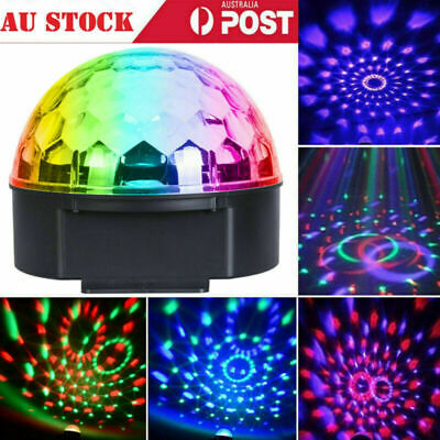 Disco RGB Light Stage Effect DJ Laser LED Lights Club Party Crystal Magic Ball