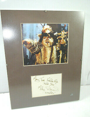 Star Wars Photo/Picture Signed by Mike Edmonds/Logroy (24 x 30 cm) (K62)