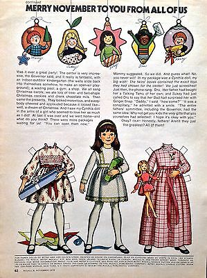 Betsy McCall Mag. Paper Doll, betsy mccall Merry November To You, Nov. 1973