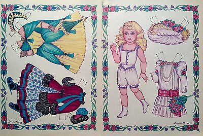 Antique Doll Magazine Paper Doll,1989, By Loraine Morris