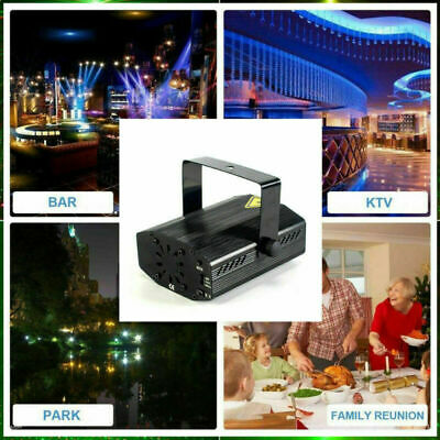 RGB DJ Disco Stage Light Mini Laser Projector Xmas Show Party with RC LED
