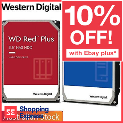 Western Digital WD Internal Hard Drive HDD BLUE RED 1TB 2TB 3TB 4TB 6TB 8TB 10TB