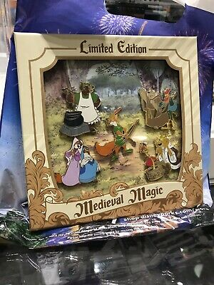 Robin Hood Boxed 5 Pin Set 2019 Disney Medieval Magic LE 1000 SOLD OUT